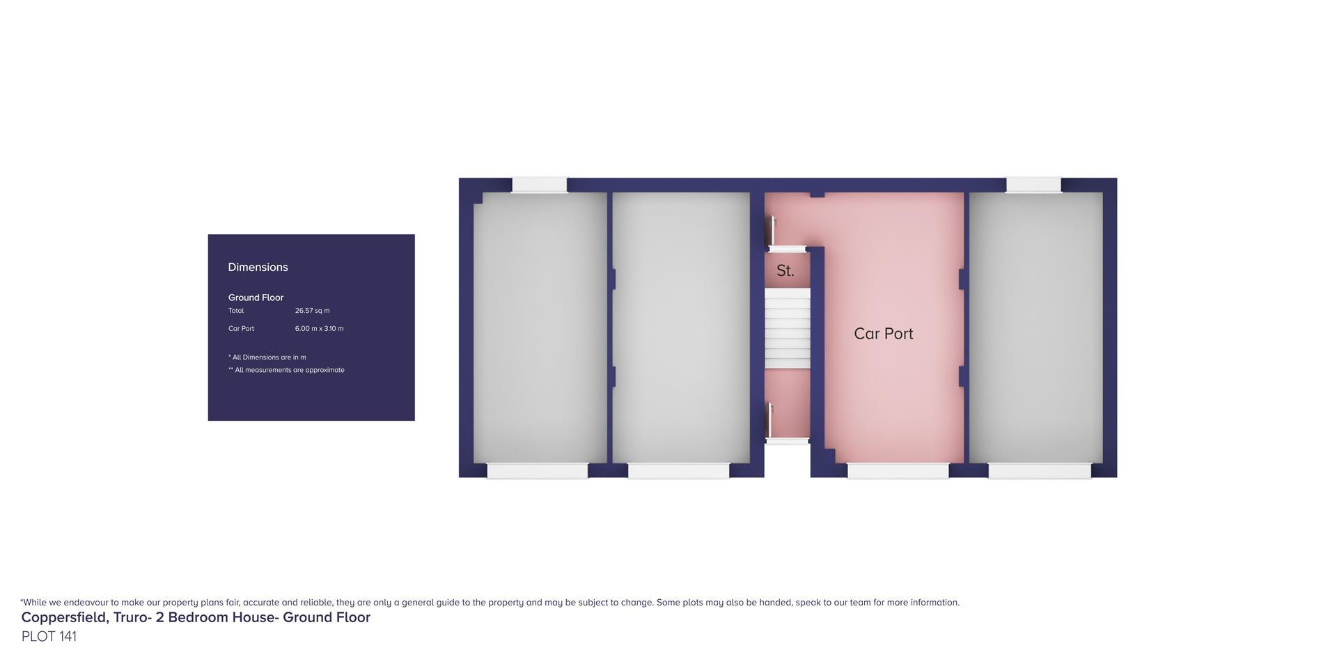 Coppersfield, Truro- 2 Bedroom House_Plot 141_ GF_